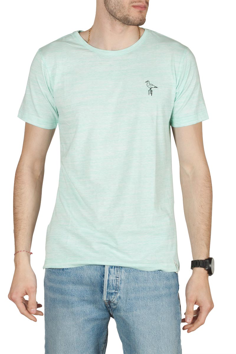 Anerkjendt Ralf slub t-shirt ανοιχτό πράσινο - 9219314