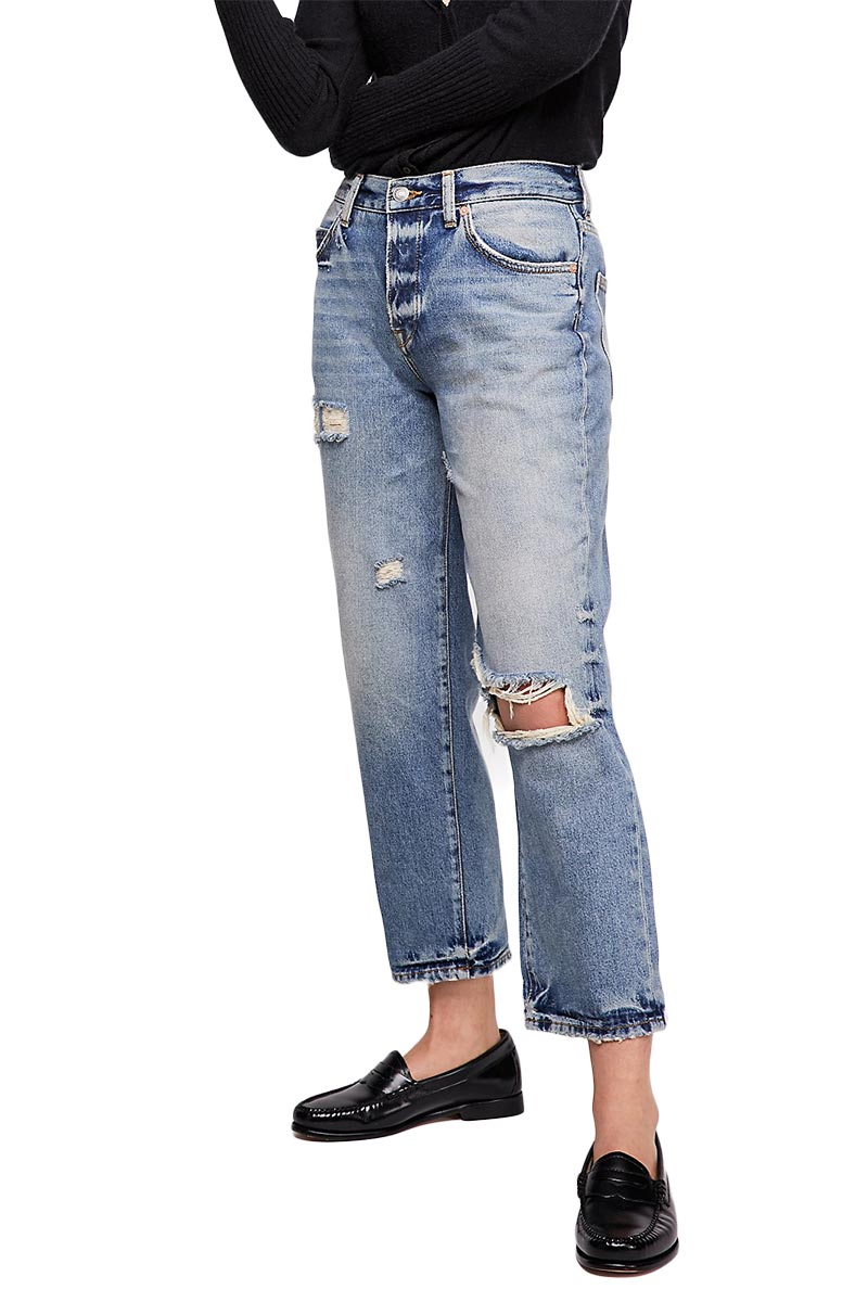 Free People extreme washed boyfriend jeans - ob832348