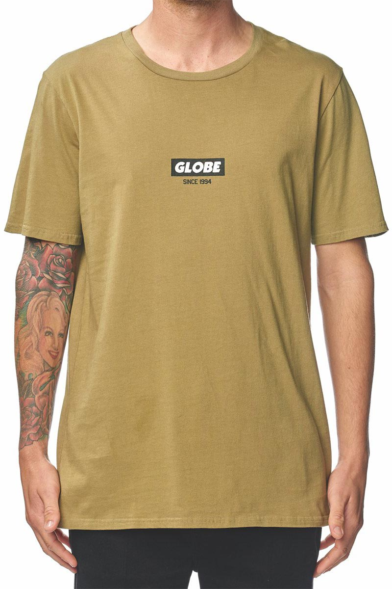 Globe Stamped t-shirt khaki - gb01810029-kh