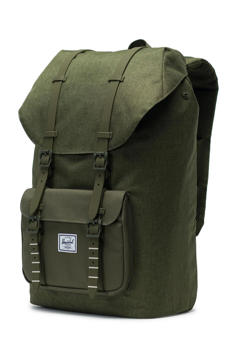 Herschel Supply Co. Little America backpack olive night crosshatch/olive night