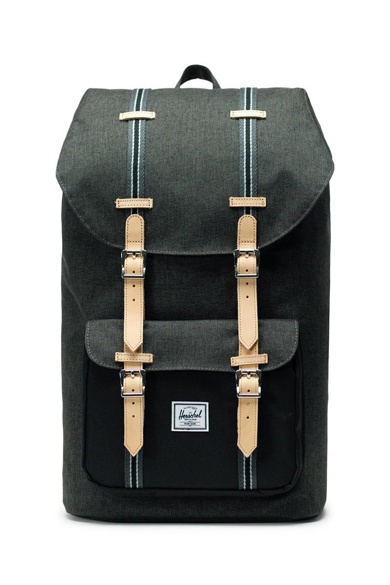 Herschel Supply Co. Little America Offset backpack black crosshatch/black