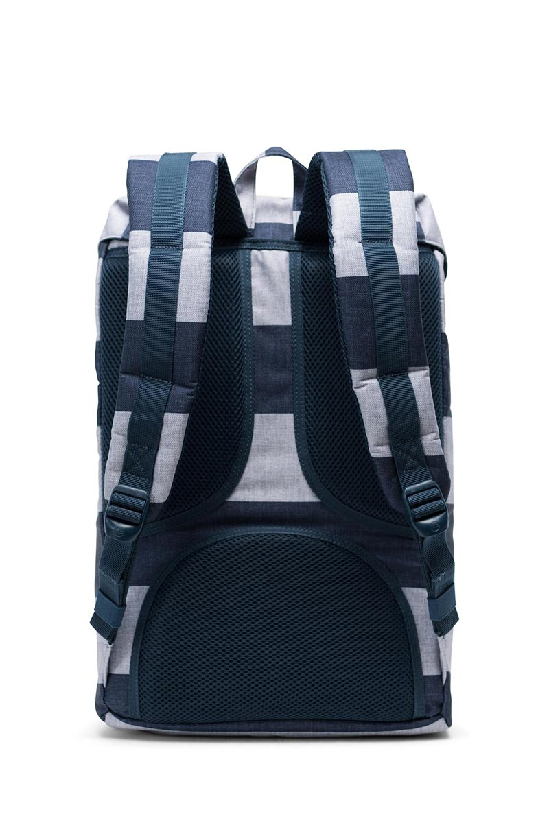 Herschel Supply Co. Little America mid volume backpack border stripe/saddle brown