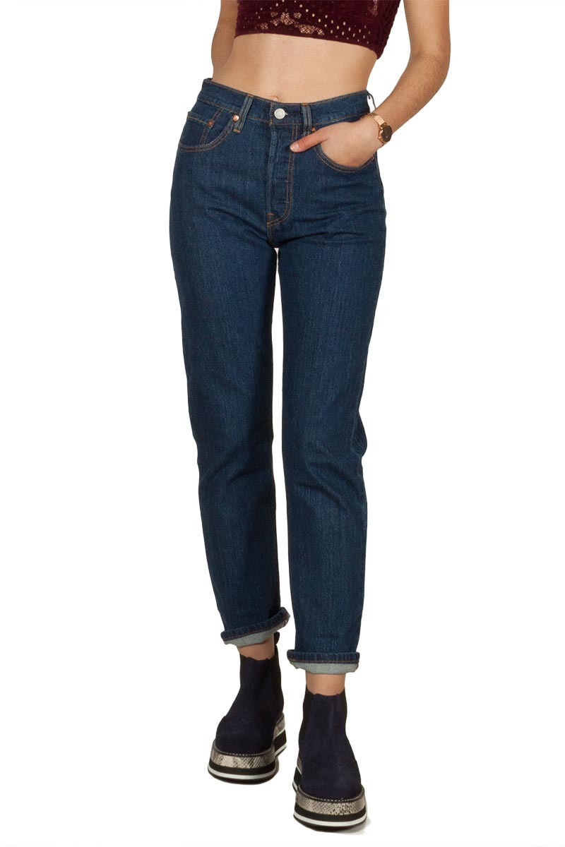 best choice free delivery order LEVI'S 501® original cropped jeans shot in the dark