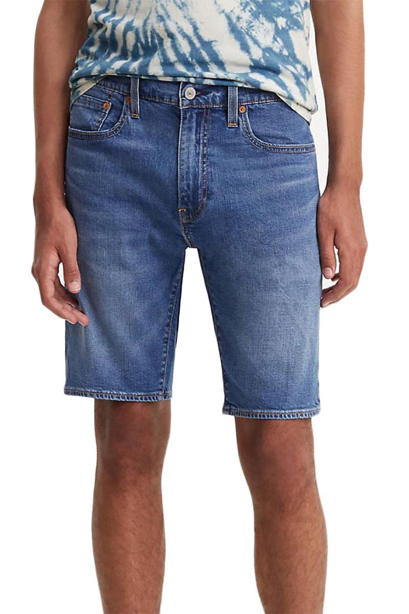 9f1d4619a07 Levi's 502 taper hemmed shorts blue mercury ltwt