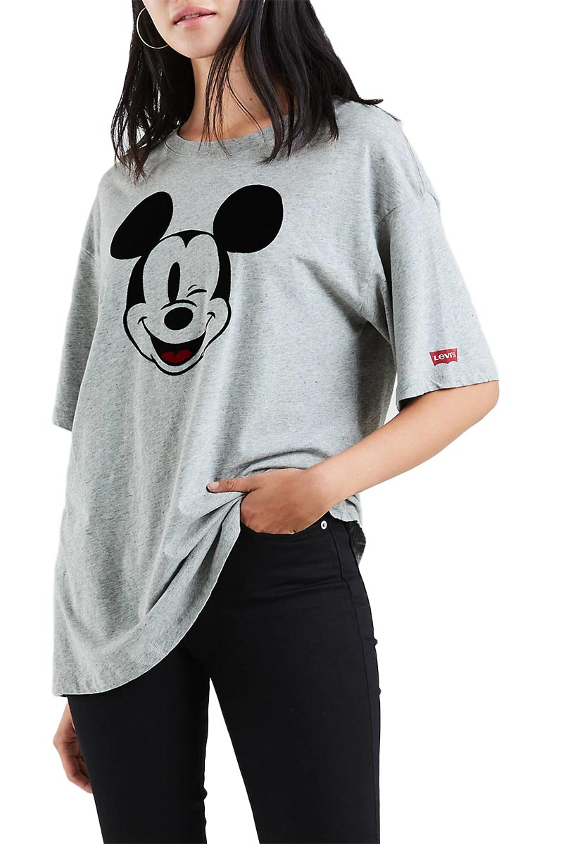 Levi's® Graphic Mickey Mouse slacker t-shirt heather grey