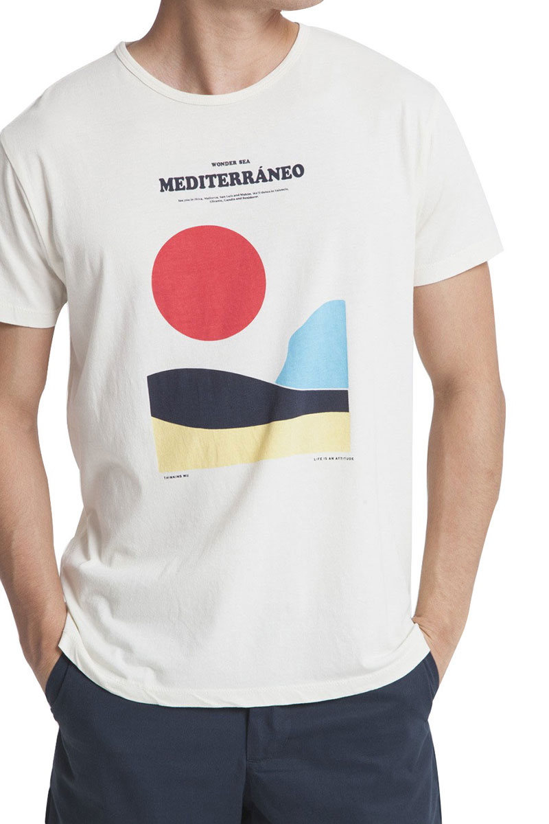 Thinking Mu organic cotton t-shirt Mediterraneo