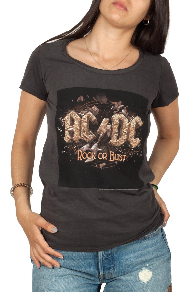 Amplified AC//DC Let There Be Rock Men/'s Charcoal T-Shirt