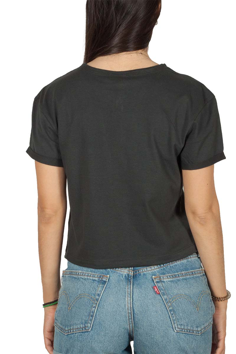 Amplified Nirvana In Utero Colour crop top charcoal