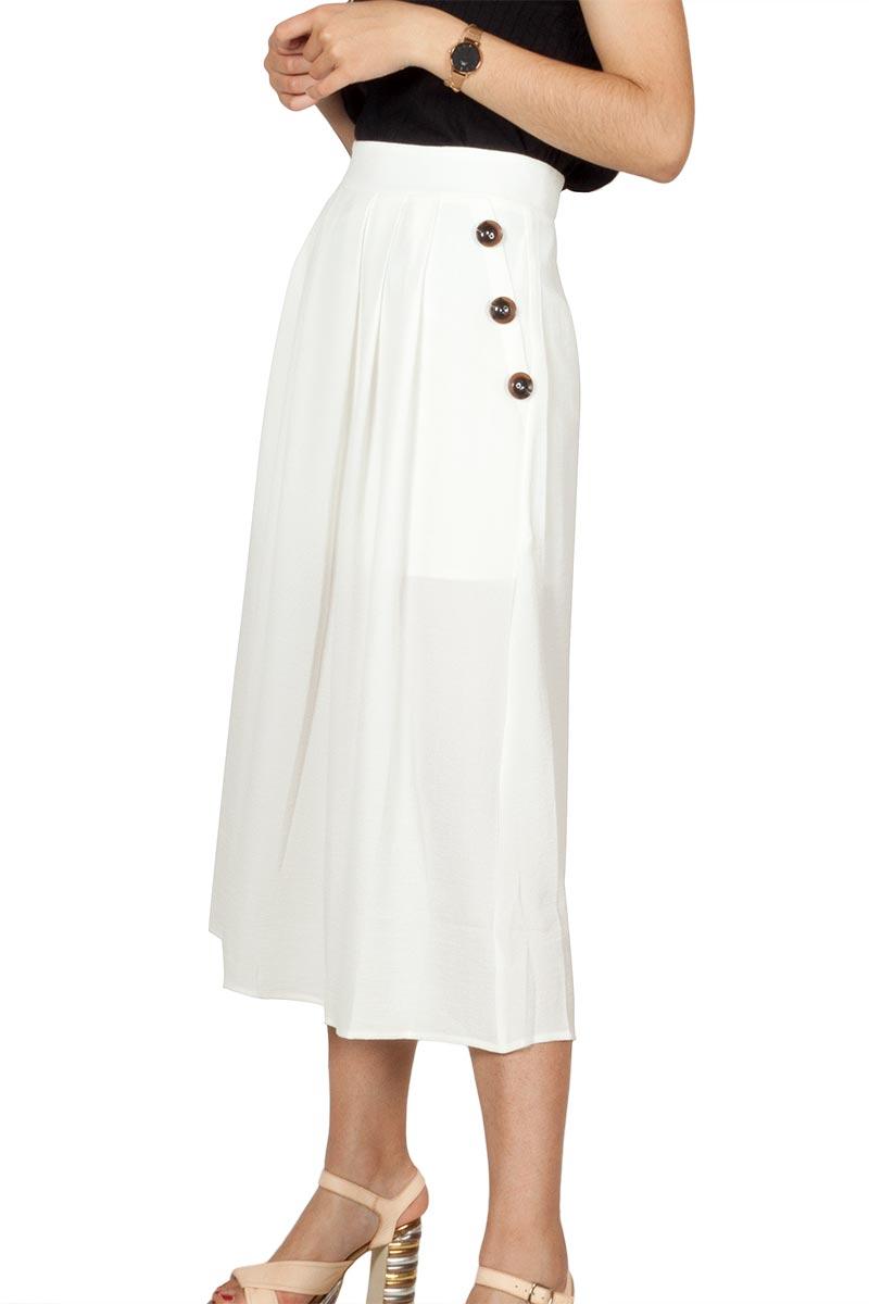 Rut and Circle midi skirt white