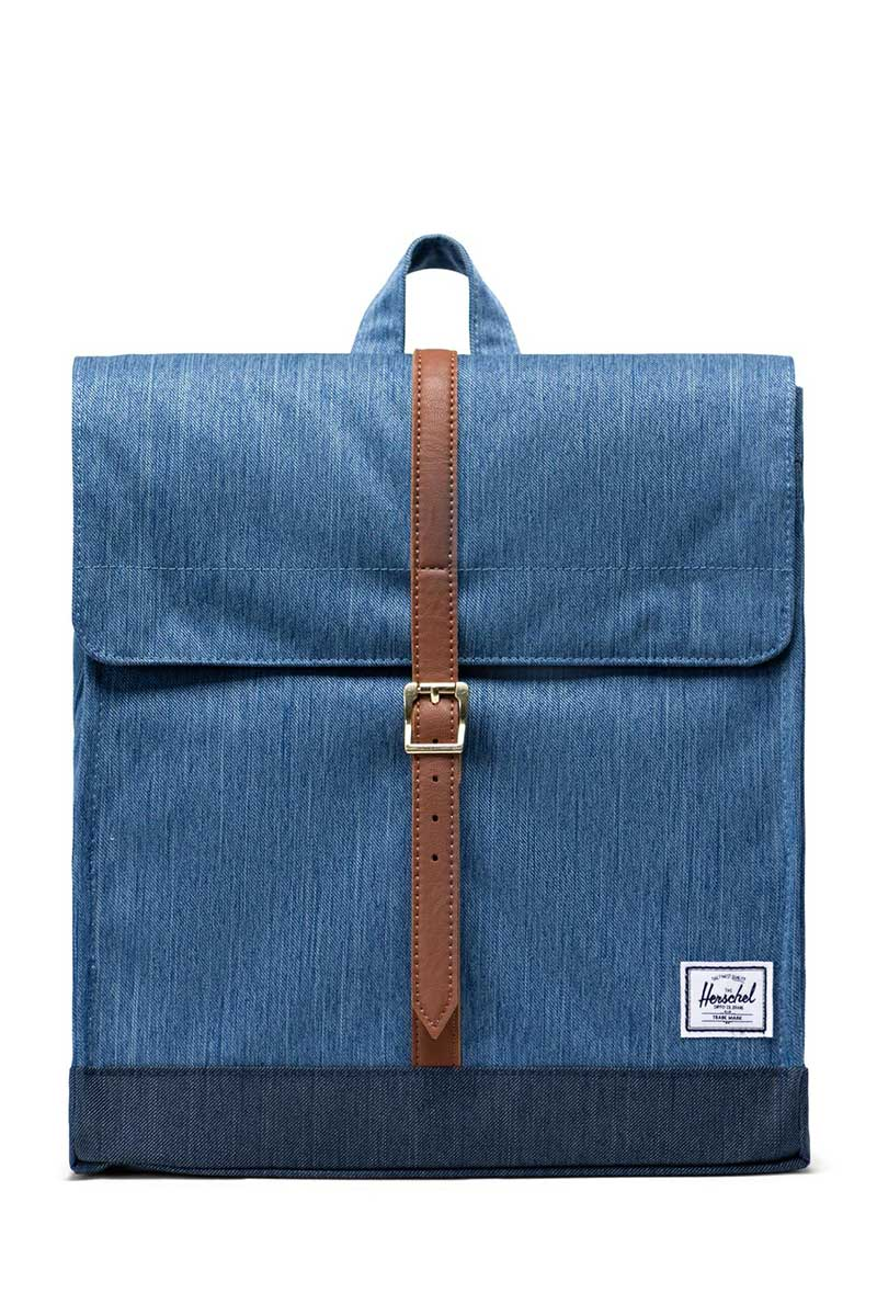 Herschel Supply Co. City mid volume backpack faded denim/indigo/tan - 10486-02730-os