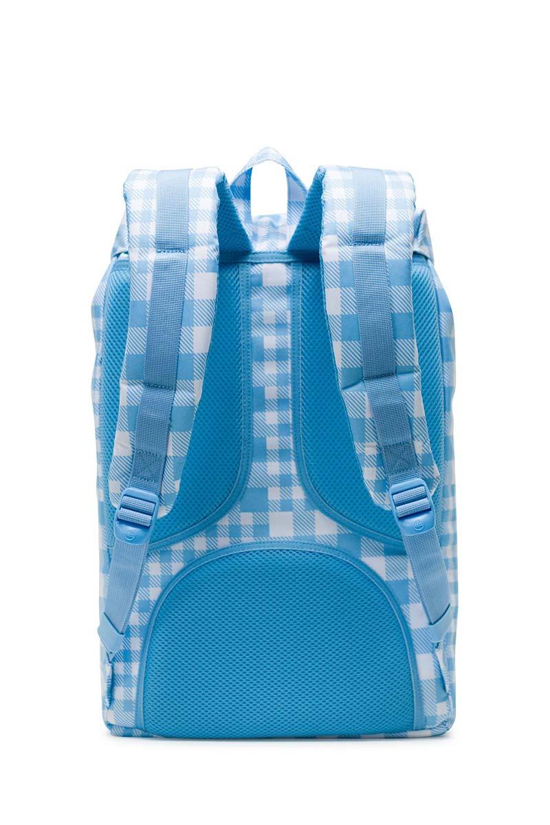 Herschel Supply Co. Little America mid volume backpack gingham alaskan blue/rubber
