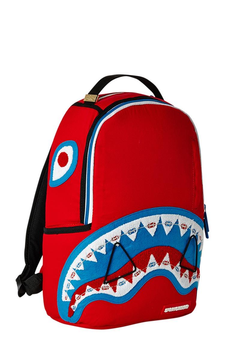 Sprayground mini backpack Lil braves shark red