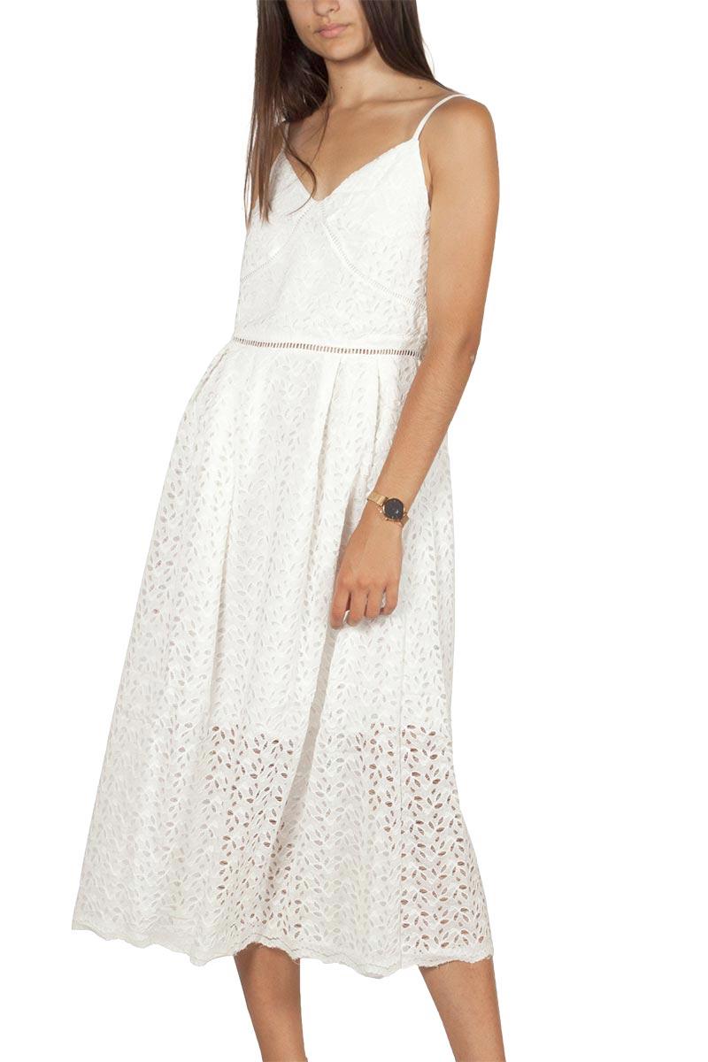 Artlove τιραντέ φόρεμα δαντέλα ημίλευκο - al-38223