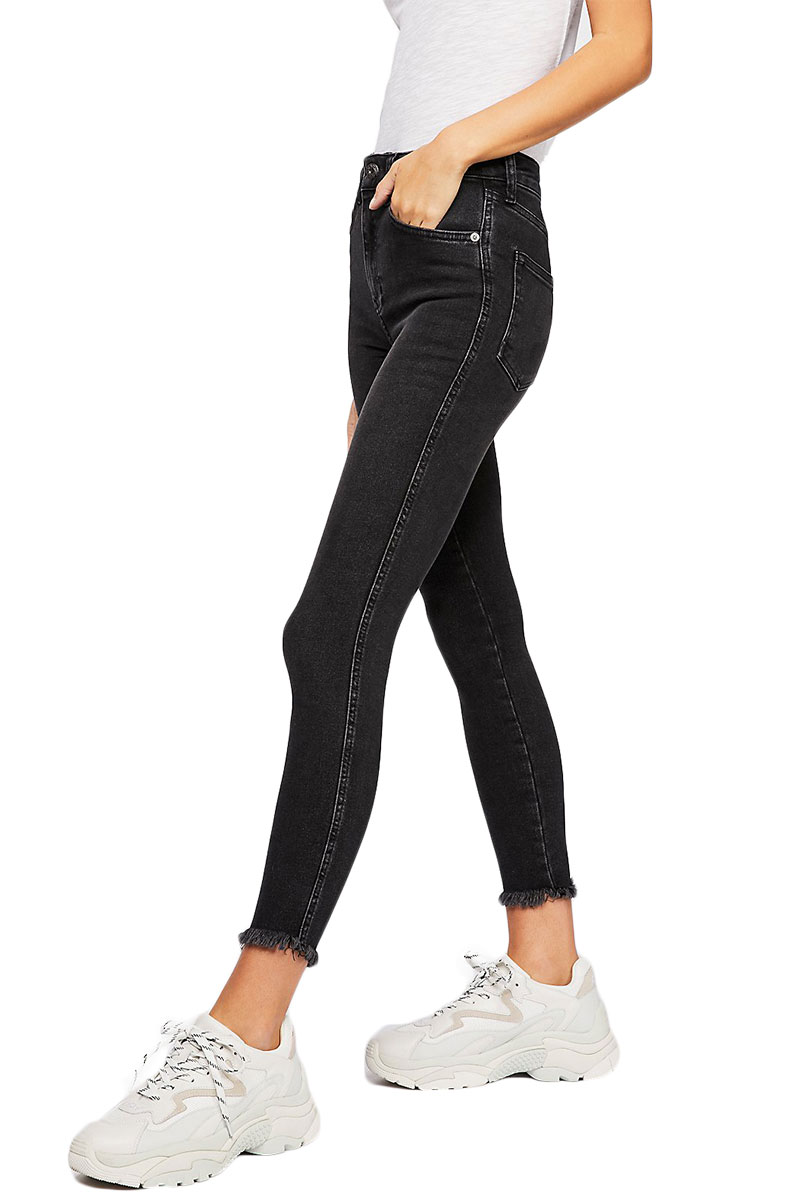 Free People raw high-rise jegging black - ob921667