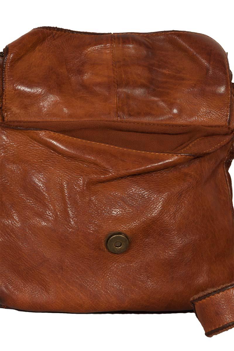 Hill Burry men's leather cross body bag vintage tan