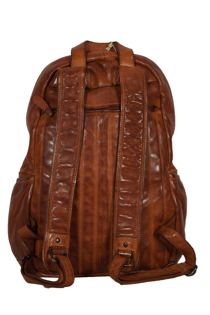 Hill Burry leather backpack vintage tan