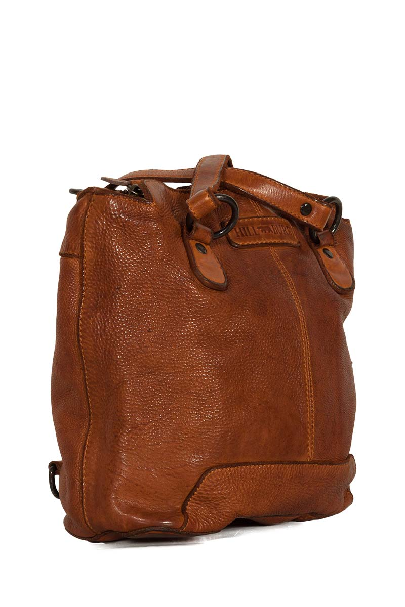 Hill Burry women's leather backpack vintage tan