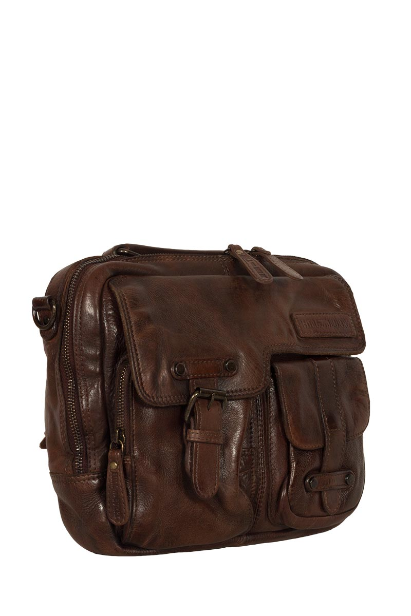 Hill Burry small leather briefcase vintage brown