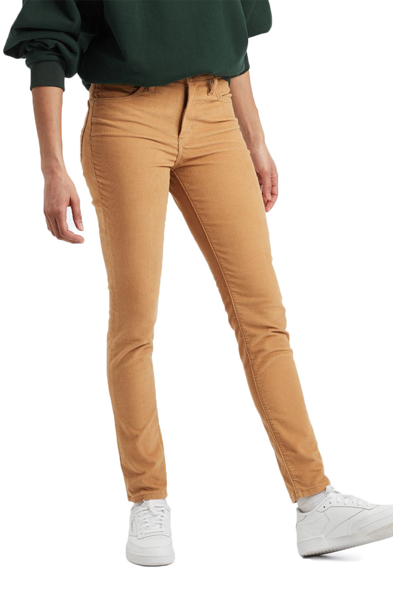 Levi's 721™ high waisted skinny cord pants golden khaki - 18882-0237