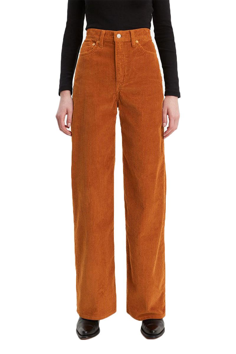 Levi's Ribcage wide leg corduroy pants caramel - 79112-0000