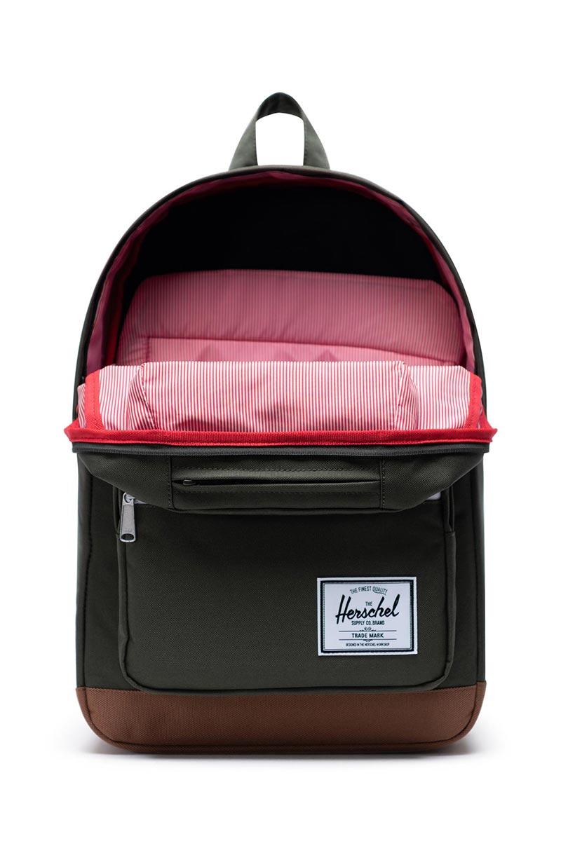 Herschel Supply Co. Pop Quiz backpack dark olive/saddle brown