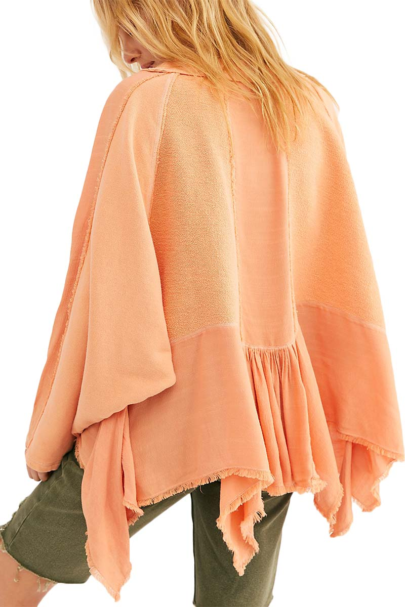 Free People Gold Duster oversize pullover