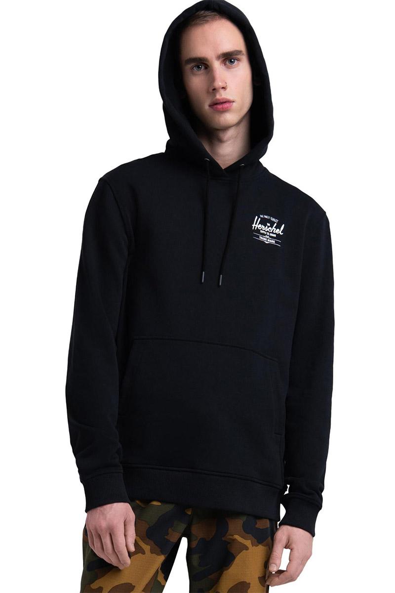 Herschel Supply Co. ανδρικό φούτερ κουκούλα μαύρο με classic logo - 50033-00266