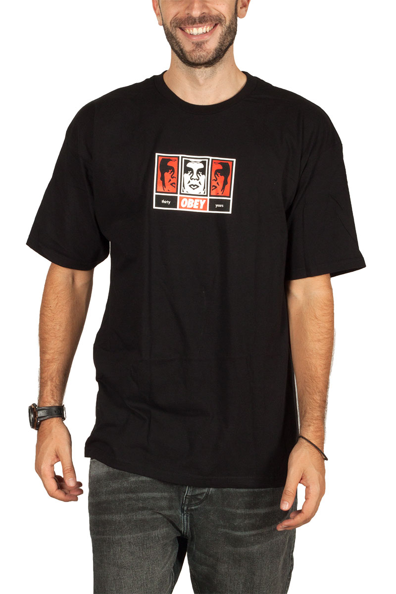 Obey t-shirt 3 faces 30 years - 163082252