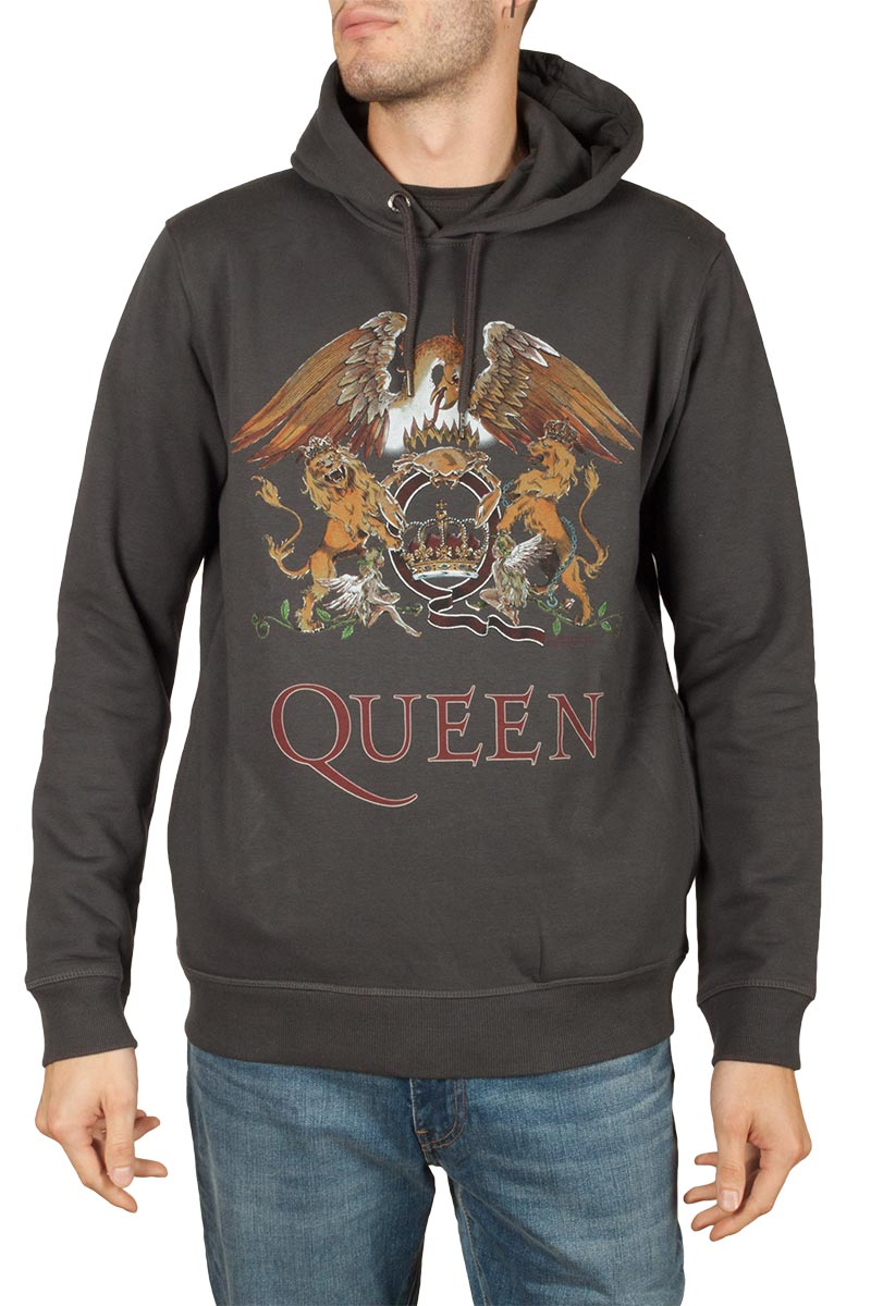 Amplified Queen Royal crest hoodie slate grey - zav390qcc