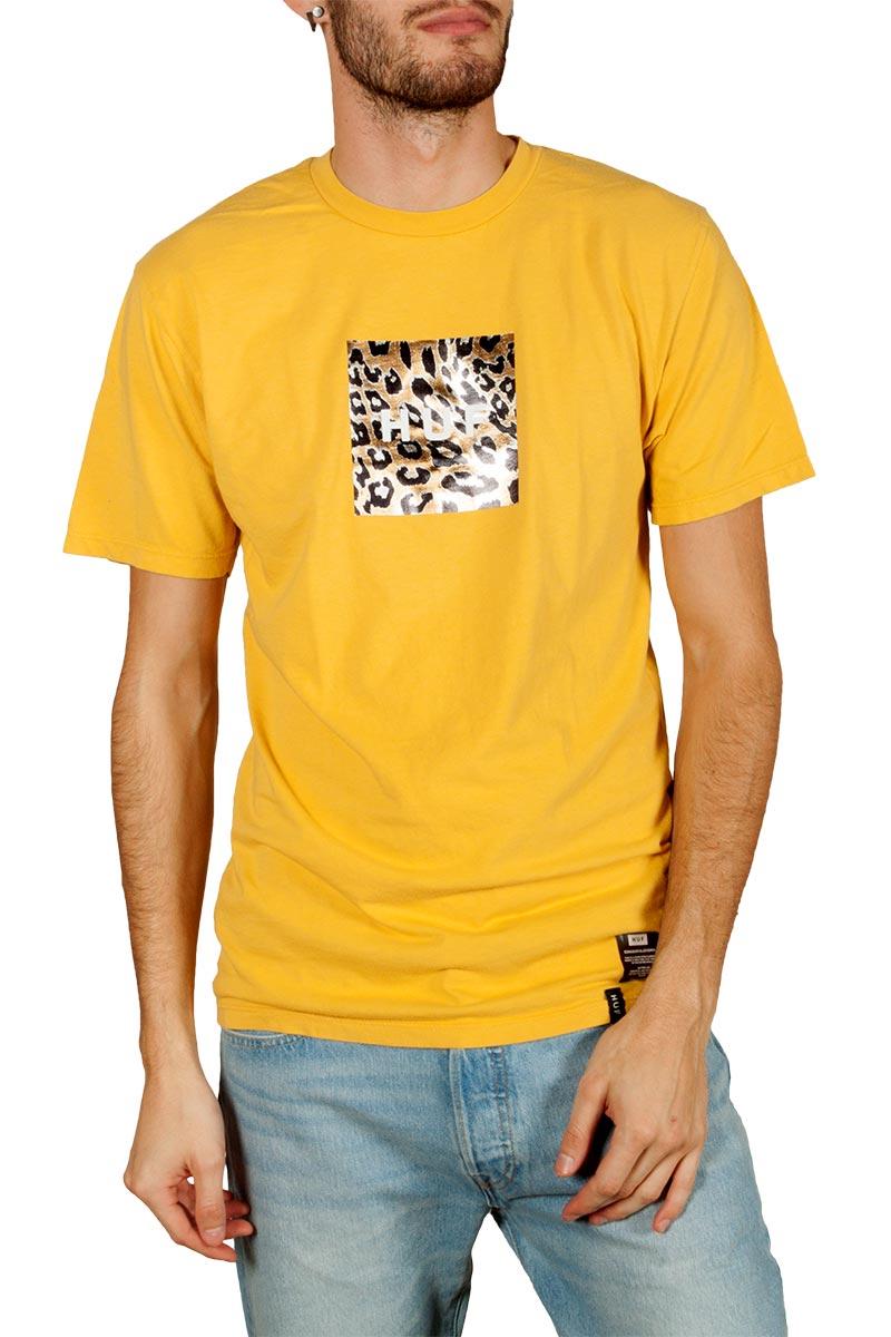 Huf Panthera box logo t-shirt sauterne - ts00796-strne