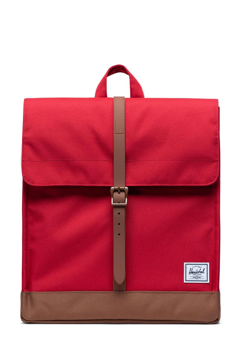 Herschel Supply Co. City mid volume backpack red/saddle brown - 10486-03271-os
