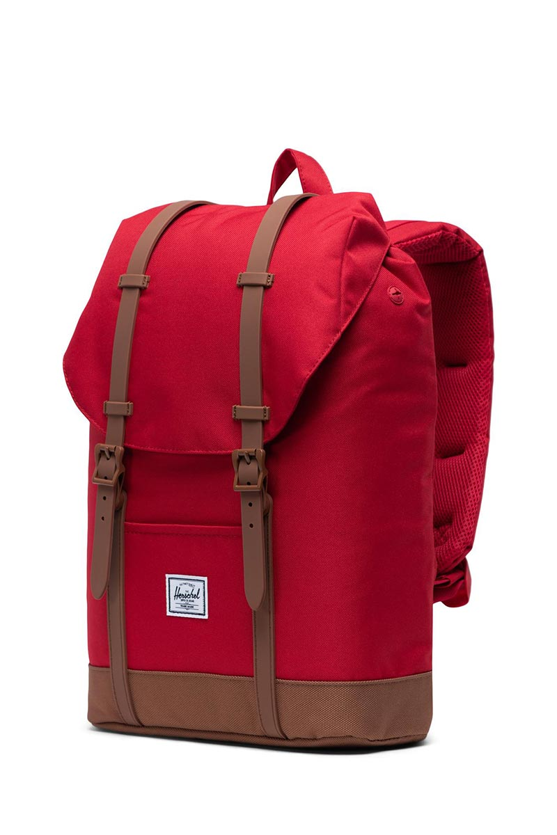 Herschel Supply Co. Retreat mid volume backpack red/saddle brown