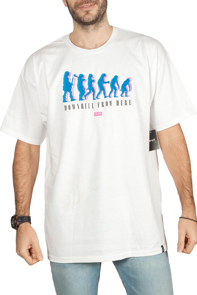 Huf (D)Evolve t-shirt white - ts00910-wh