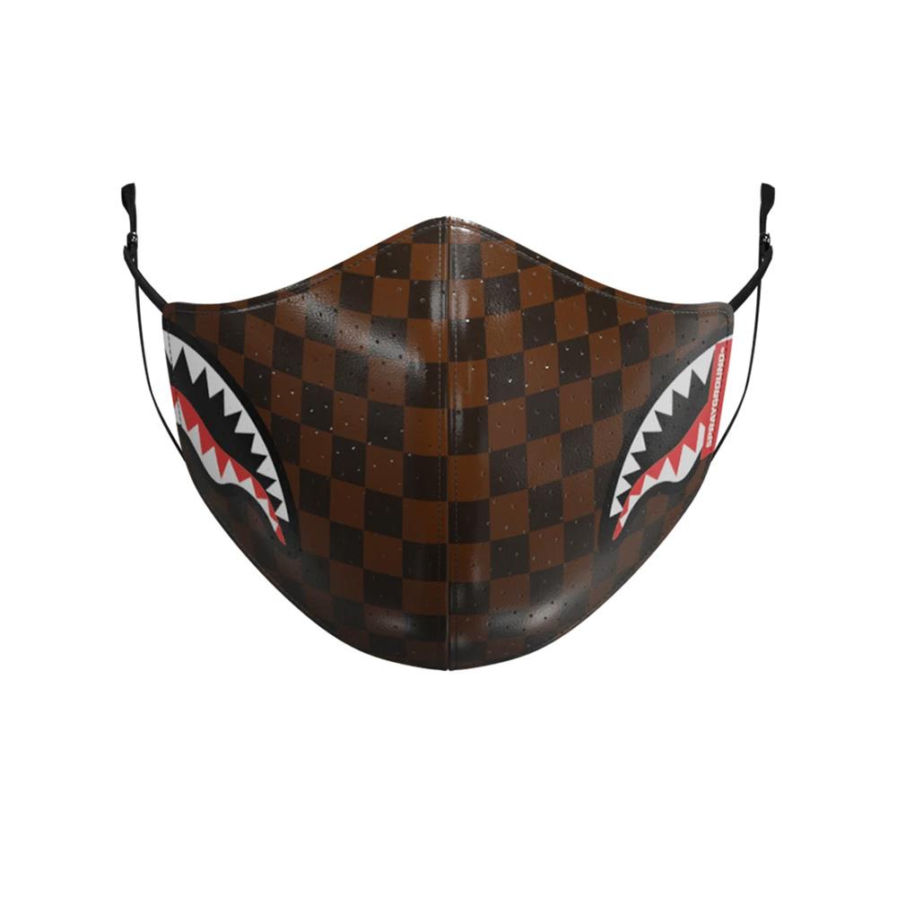 Sprayground Sharks in Paris brown vegan leather mask
