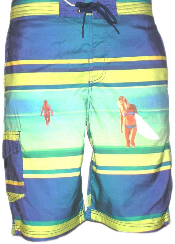 South Shore men's board shorts Anguilla blue