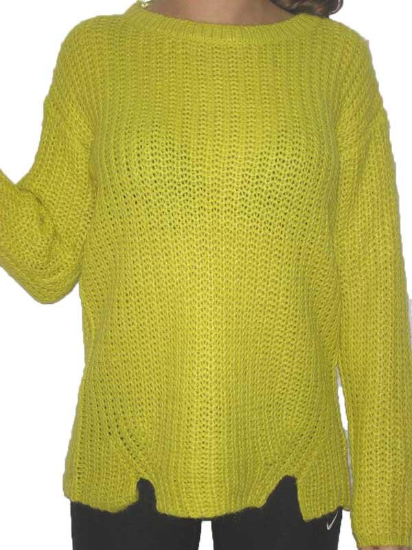 Alcott γυναικείο ριχτό πουλόβερ σε κίτρινο