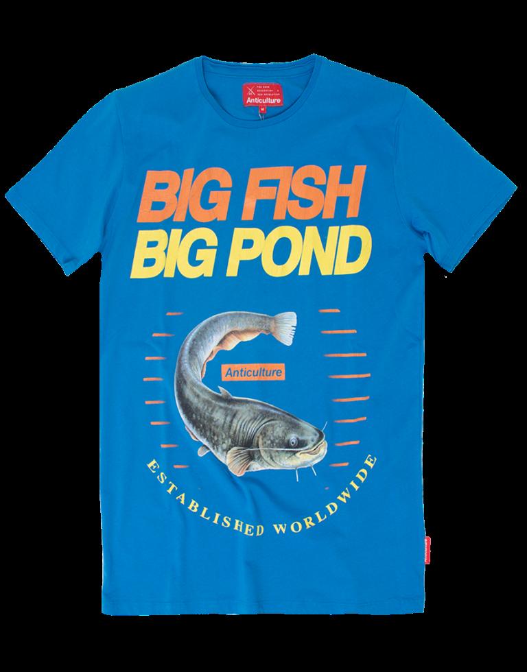 Anticulture ανδρικό t-shirt με στάμπα big fish ρουά