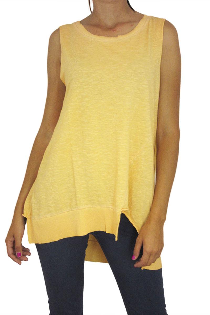 Γυναικεία αμάνικη μπλούζα φλάμα oversize 21 degrees σε πορτοκαλί