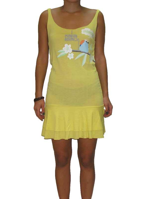 Kanabeach μίνι φόρεμα με τιράντες κίτρινο