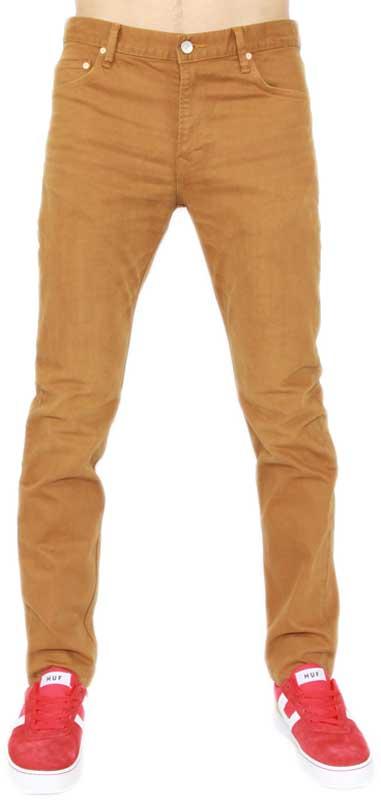 Wesc ανδρικό παντελόνι jean Eddy μουσταρδί - 133we-00282-mu