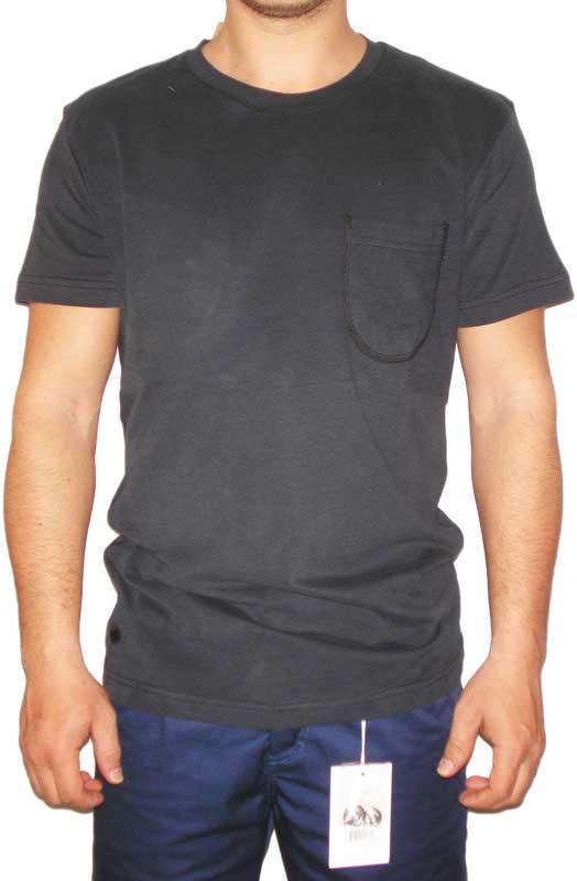 Humor Brabrand ανδρικό μαύρο T-shirt με τσέπη