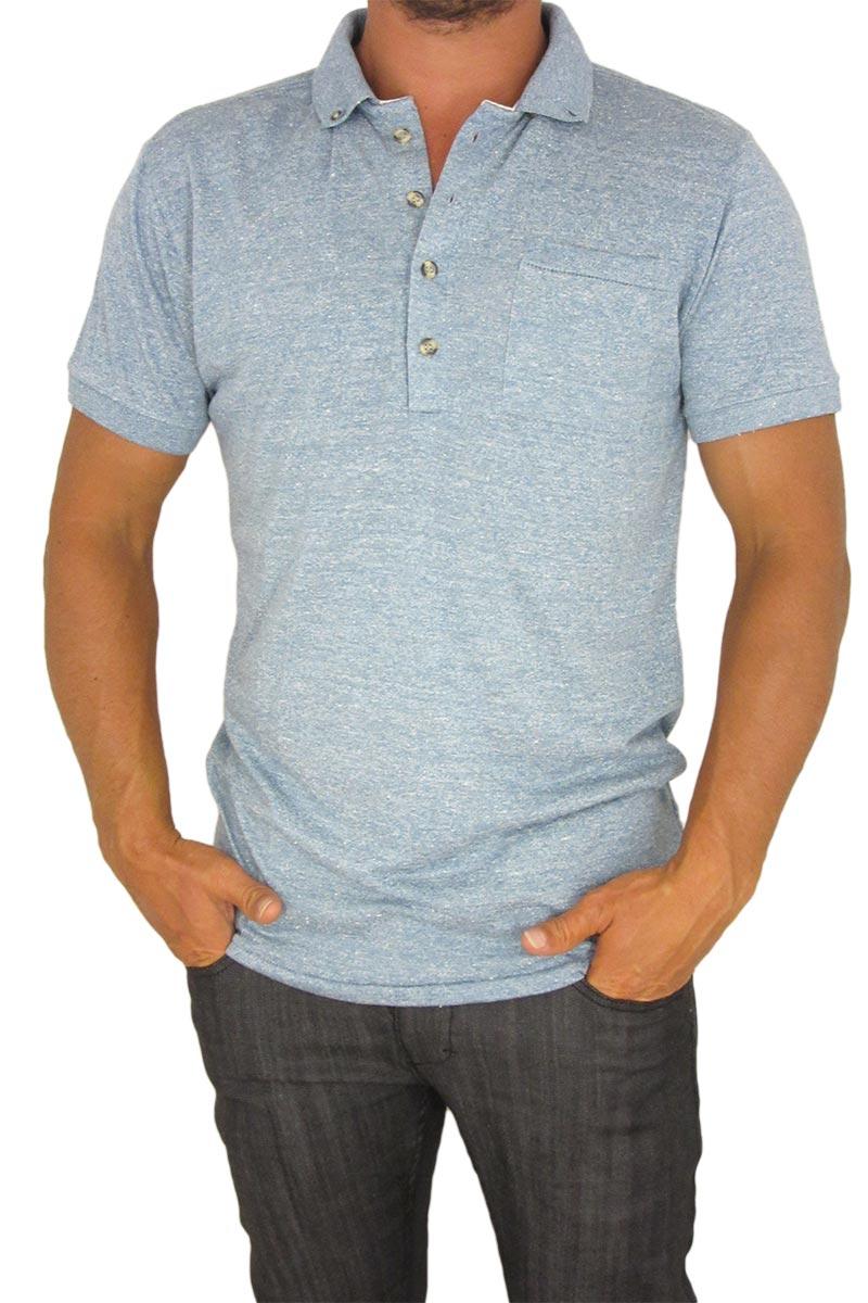 Bellfield Simoca ανδρικό polo μπλουζάκι γαλάζιο