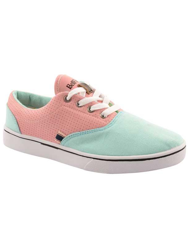 Bellfield Pere γυναικεία πάνινα sneakers σε βεραμάν με ροζ