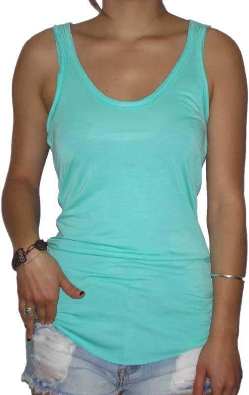 Γυναικείο cut off αμάνικο μπλουζάκι σε βεραμάν