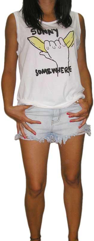 Insight γυναικείο αμάνικο μακρύ τοπ Sunny σε λευκό