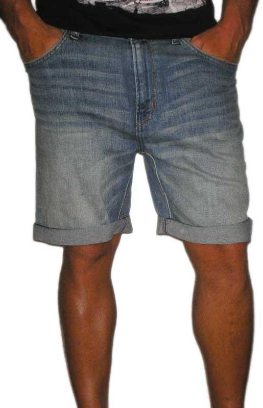 Wesc Conway ανδρική ξεβαμμένη τζιν βερμούδα
