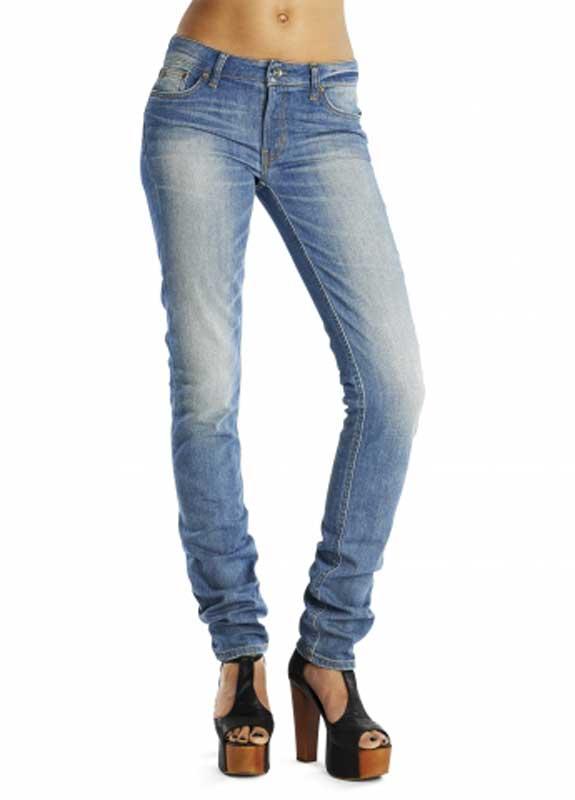 Wesc γυναικείο ξεβαμμένο τζιν παντελόνι Mandy - 141we-000307