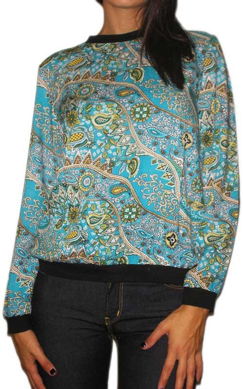 Ruby Rocks γυναικεία μπλούζα τυρκουάζ με λαχούρια