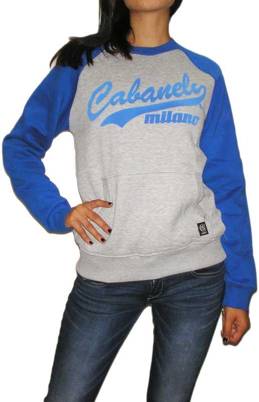 Cabaneli φούτερ μπλούζα γκρι-μπλε ρουά