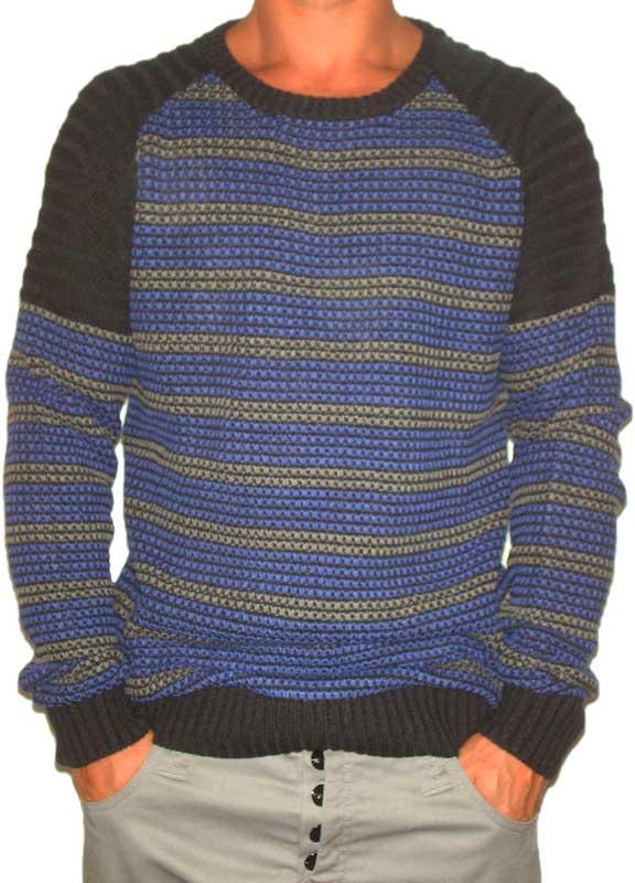 Humor Job ανδρικό μπλε πουλόβερ